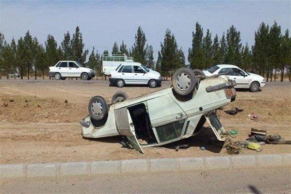 7 مصدوم حادثه واژگونی سرویس مدرسه به بیمارستان همدان منتقل شدند