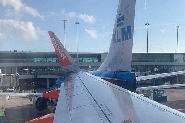 برخورد 2 هواپیما در فرودگاه آمستردام