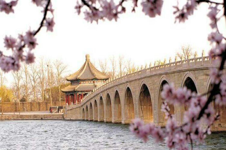 نمونه ای از باغ های باشکوه چینی در مجموعه کاخ تابستانی