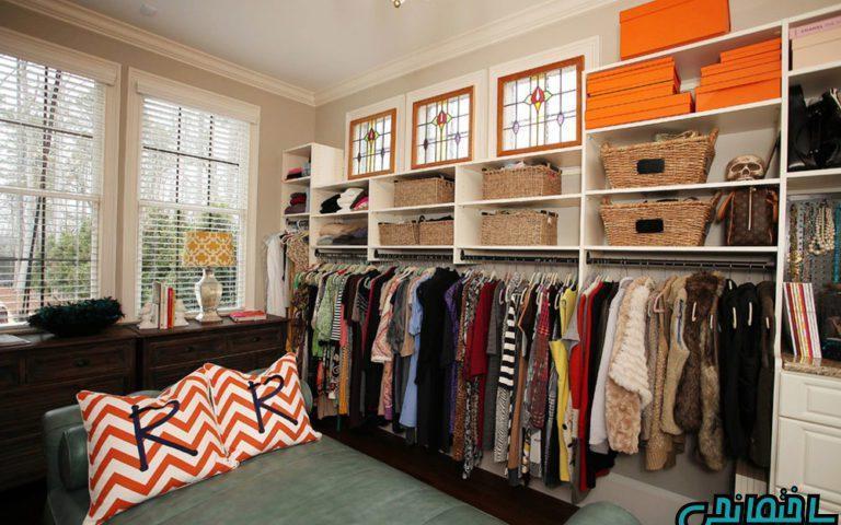 دیزاین کمدهای لباسی در اتاق