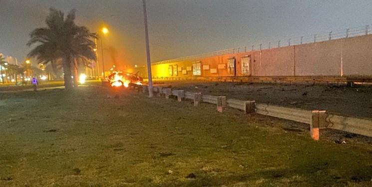 انفجار نزدیک فرودگاه بغداد، آمریکا اعضای الحشد الشعبی را ترور کرد