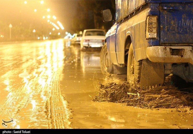 فیلم ، آب گرفتگی معابر قم ، تشدید فعالیت سامانه بارشی در استان