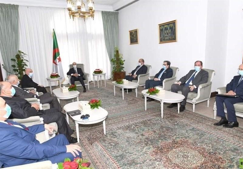 دیدار رئیس مجلس شرق لیبی با رئیس جمهور الجزایر