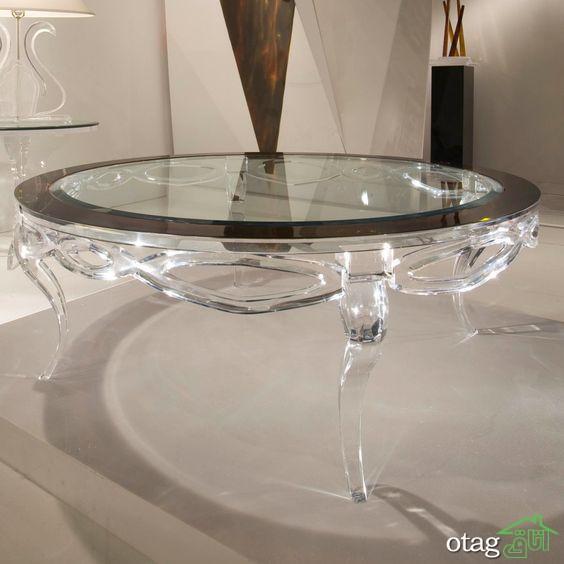 مدل های جذاب میز شیشه ای پذیرایی و نحوه تزیین منزل با آنها