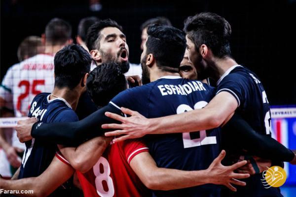 صعود مجدد والیبال ایران در رده بندی لیگ ملت ها